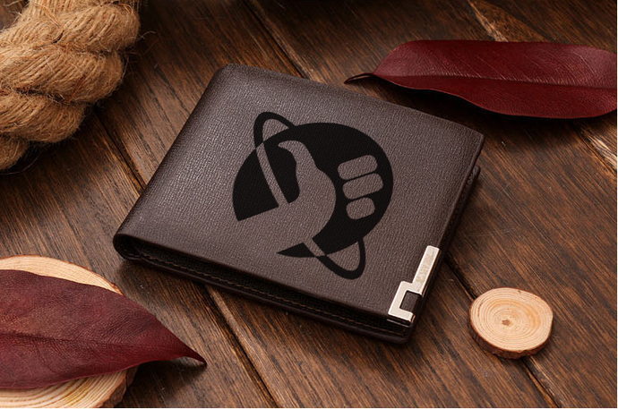 Hitchhiker's Guide to the Galaxy  Leather Wallet