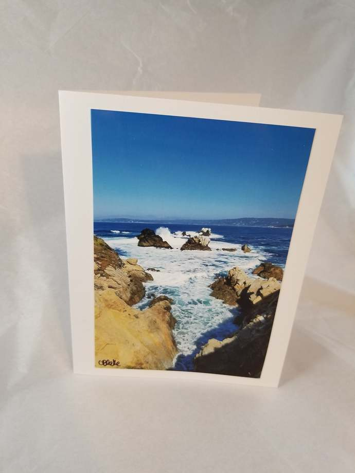 Greeting Card * Personalized Text * West Coast * Big Sur * Photo Card * Blank