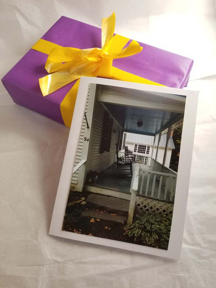 Greeting Card * Personalized Text * Front Porch * Photo Card * Blank Card