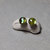 6mm Golden Yellow Paua Abalone Post Earrings with Sterling Silver