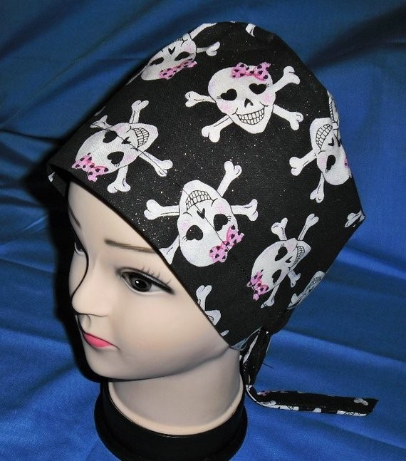 Nurses Women Surgical Scrubs Scrub Caps Ladies Pixie Cap Hat Surgery Hats OR