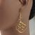 Gold Aluminum Scroll 'C' Earrings