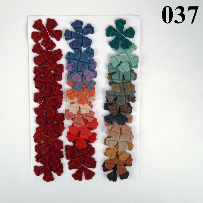Multicolored Checkered Vinyl Die Cut Flowers