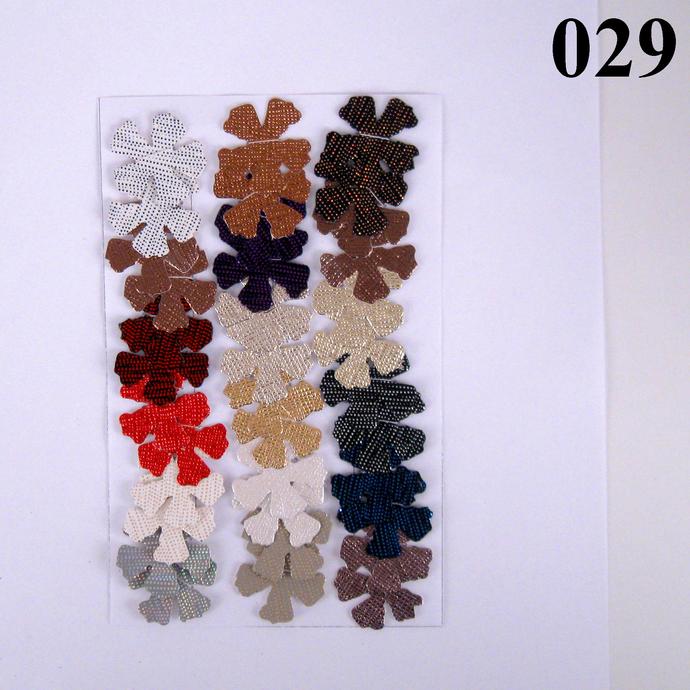 Shiny Sparkle Multicolored Vinyl Die Cut Flowers