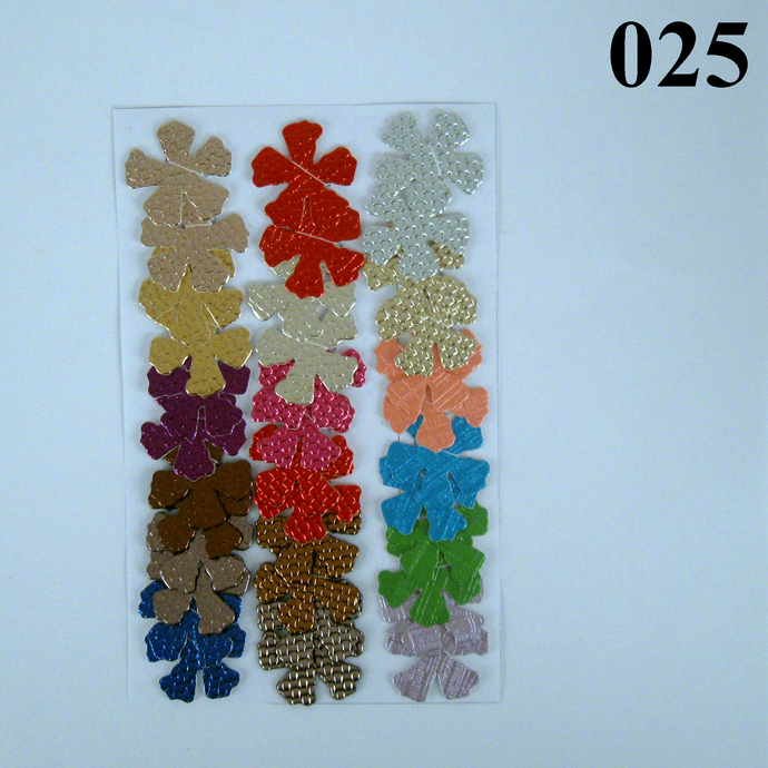 Shiny Multicolored Vinyl Die Cut Flowers