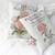 Pink Roses on French Grain sack Style Lavender Sachet Gift Bundle in Gift Box
