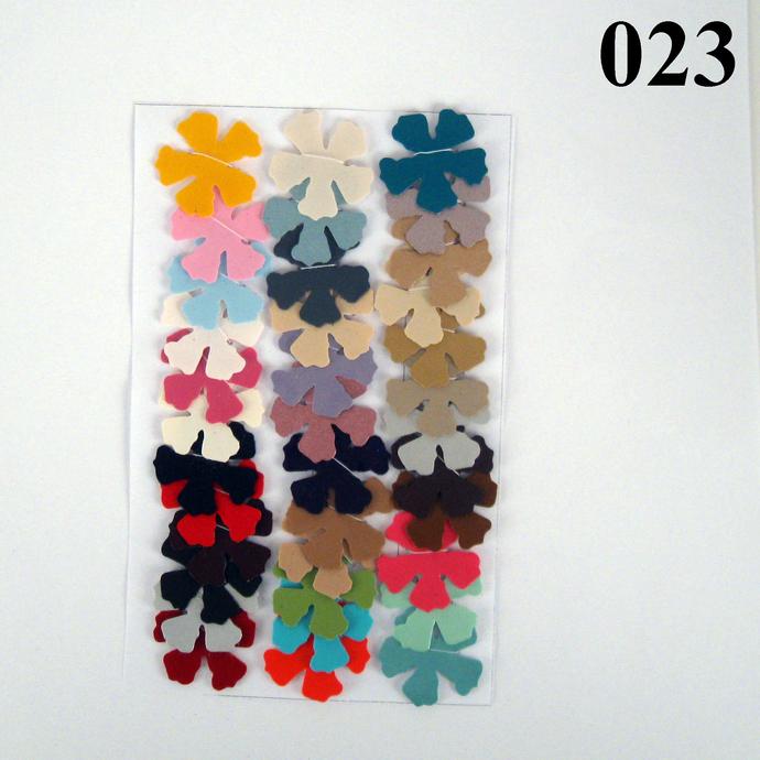 Multicolored Vinyl Die Cut Flower Variety Set