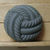 Gray Glass Button Imitation Thread Vintage 1950's