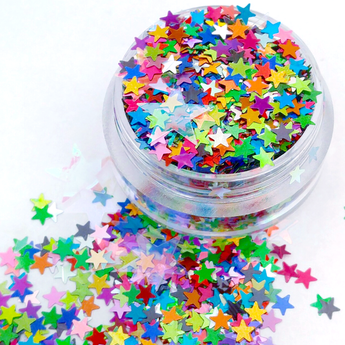 Seeing Starz - Star Shaped Holographic Loose Cosmetic & Craft Glitter Mix