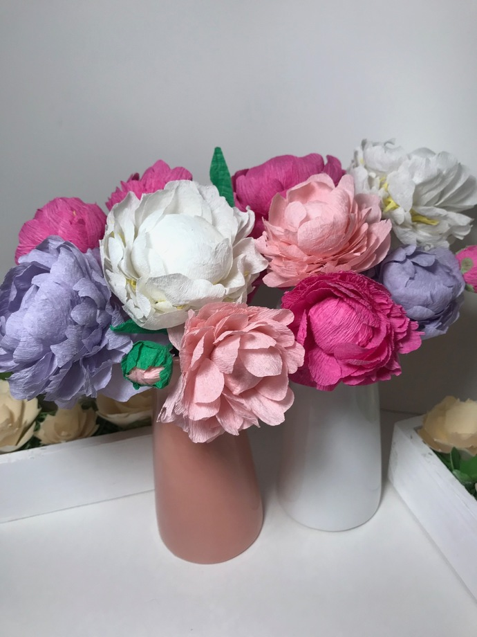 Paper flowers, Large Paper Peony