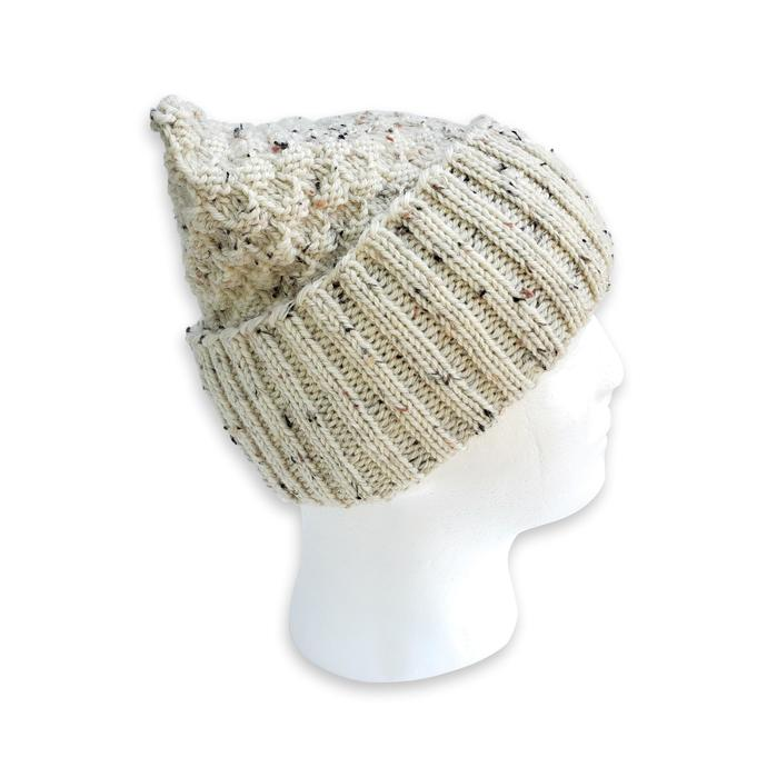Knit Wool Hat Adult Unisex, Beige
