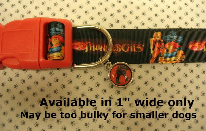 "ThunderCats, Cartoon, TV, Alien, 1"" wide adjustable Dog collar,  charm, Leash"