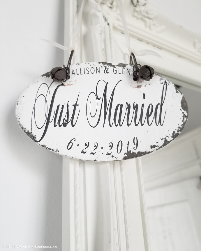 Personalized JUST MARRIED ORNAMENT | Newlywed Ornament | Personalized Ornament |