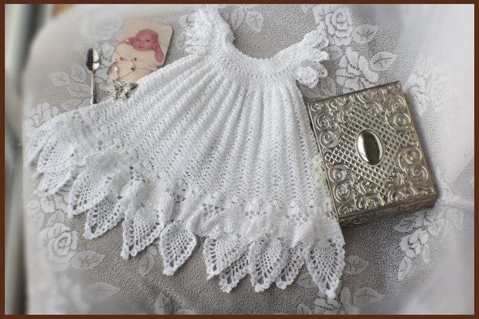 Christening Gown Crochet Pattern - Baptism Crochet Pattern- Blessings Dress