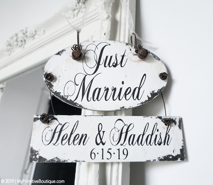 JUST MARRIED Ornament | Personalized Christmas Ornament | Our First Christmas