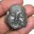 Natural Labradorite Laughing Buddha Head Carving Filigree Findings Religious