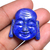 Lapis Lazuli Carving Laughing Gautam Buddha head with Golden Firing Religious