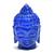 Lapis Lazuli Carving Laughing  Buddha Sculptures  with Golden Firing Gemstone