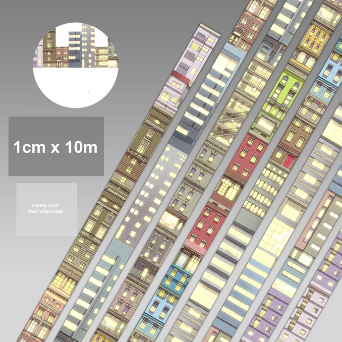 1 Roll of Limited Edition Washi Tape: Create Your Own Cityscape