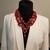 Gemstone necklace, red coral, statement necklace, designer jewelry, fashion