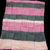Hand Knitted Soft Patterned Baby Blanket In Various Shades Of Pink And Grey -