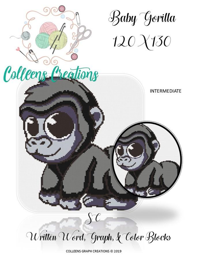 Baby Gorilla Crochet Written &Graph Design
