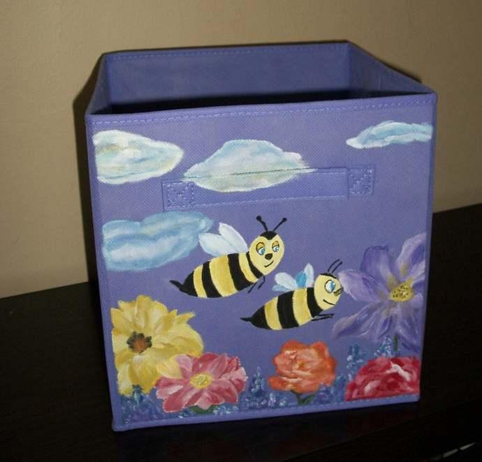Girls toy storage Little girls bedroom organizer Nursery diaper storage
