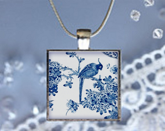 Pendant Necklace Chinese Print 3