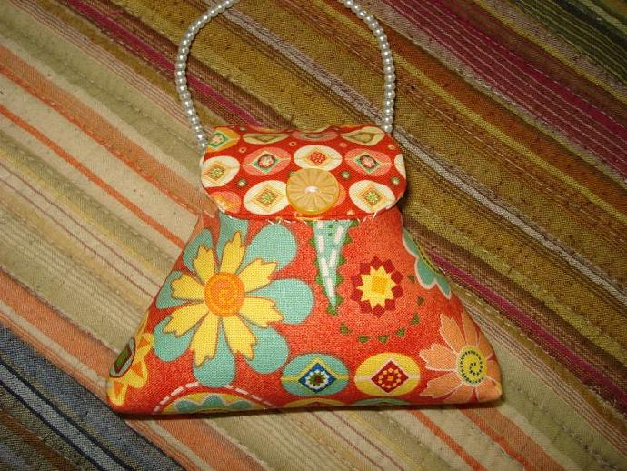 Pincushion - Purse Paisley Party