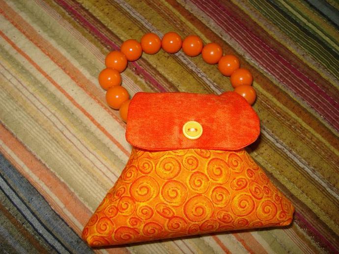 Pincushion - Purse Orange Fire