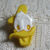 Bright Yellow Donald Duck Plastic Snaptogether Button backmarked © Disney