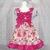 Flutter Sleeve Dress, Hot Pink Dress, Girl Pink Dress, Girl Casual Dress, Ruffle