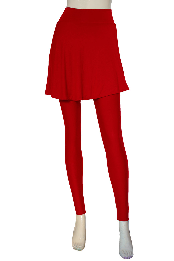 Gray Skirted Leggings Tights with Skirt Yoga Skirted Pants Plus Size Tights High