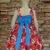 Red and Blue Dress, Floral Dress, Blue Polka Dots Dress, Girl Red Dress, Blue