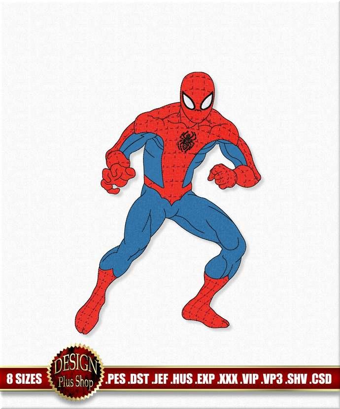 Spider-Man Machine Embroidery design SuperHero Marvel. Digitized embroidery