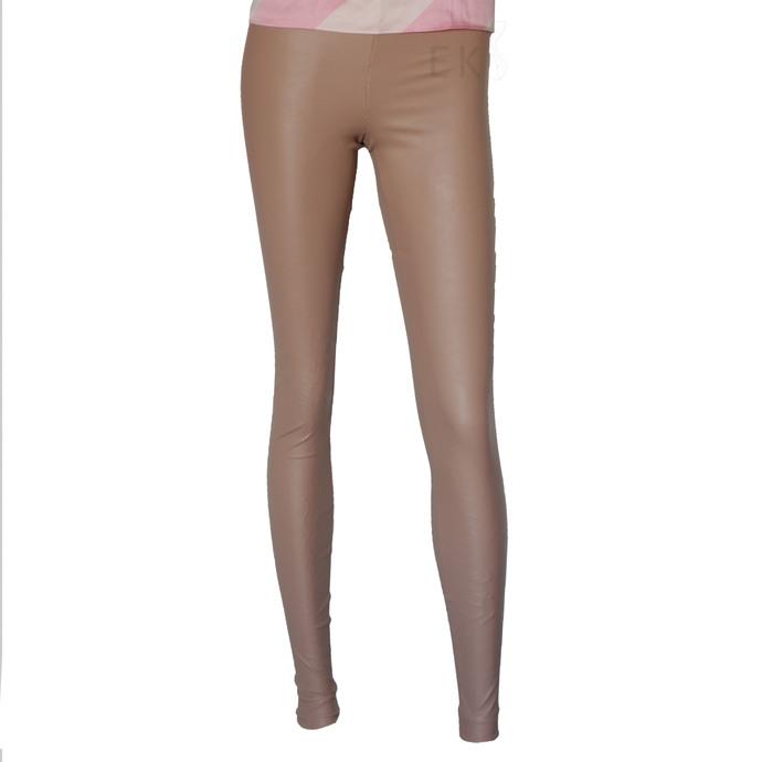 Leather Leggings Silver Vegan Leather Tights Plus Size Pants Metallic Leather