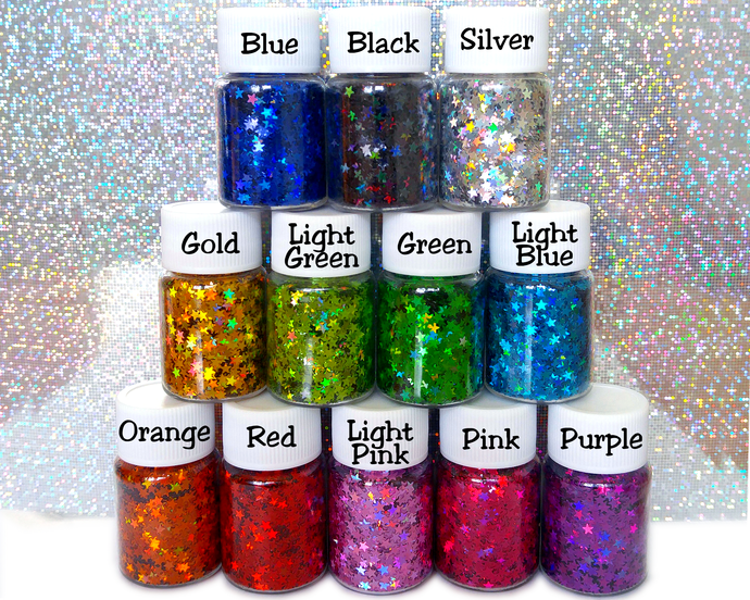 Written In The Starz - Star Shaped Holographic Loose Cosmetic & Craft Glitter