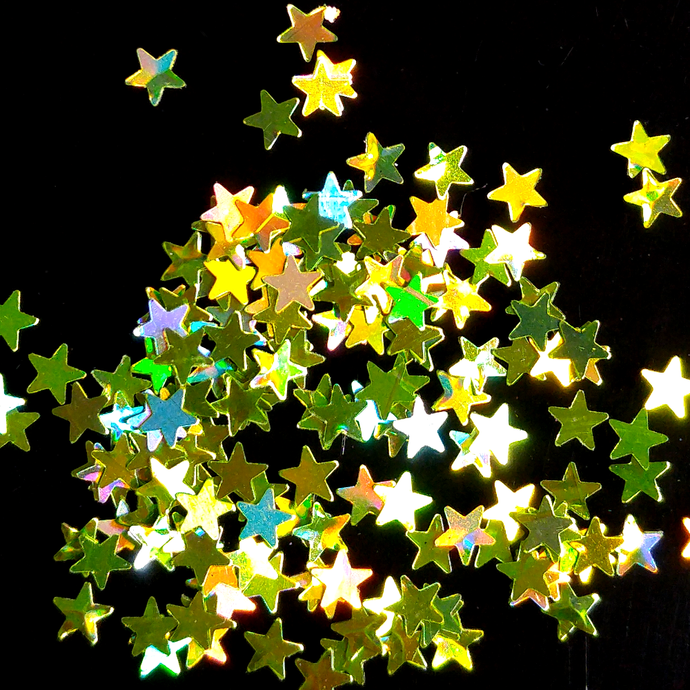 Starz Light Green - Holographic Star Shaped Loose Cosmetic & Craft Glitter