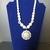 Wedding necklace, white pearls, Swarovski crystal pendant, anniversary gift,