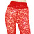 Lace Flare Pants Red Bell Bottoms See Through Pants High Rise Sheer Pants Plus