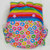 Cloth Diaper or Cover Made to Order - Combo: Pastel Rainbow Stripes and Colorful