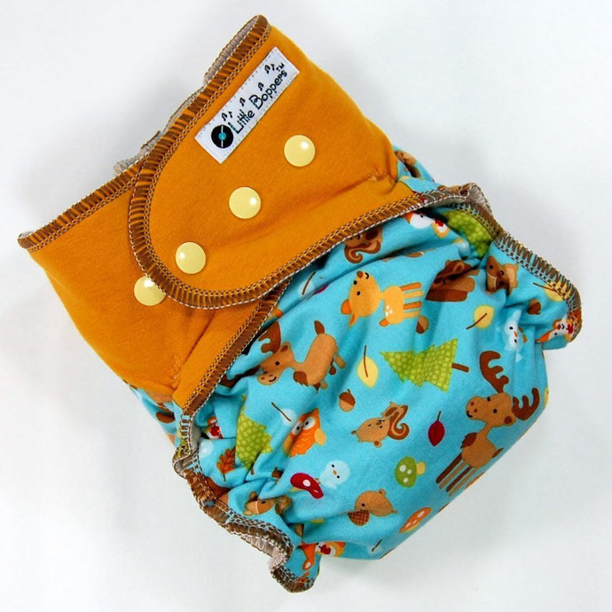 Custom Cloth Diaper or Cover Made to Order - Forest Friends (Woven) with
