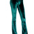 Flare Pants Velvet Bell Bottoms Green High Waist Pants Plus Size Boho Pants Sexy