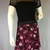 Wine Dark Roses Silky Skirt with Adjustable Tie Comfortable A-Line Cut Skims