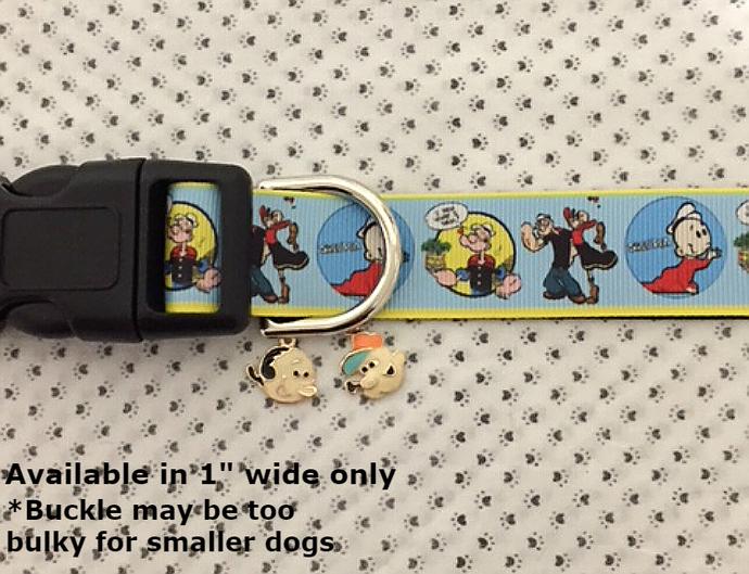 "Popeye, Popeye the Sailor, Olive Oyl, Cartoon, TV, Movie, 1"" wide adjustable Dog"