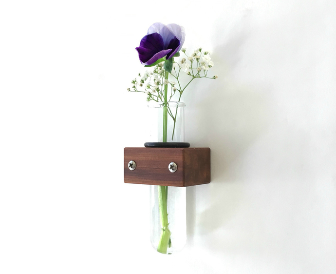 Bud Vase, Wall Test Tube Vase, Home Accents and Eco Friendly Decor, Home Decor