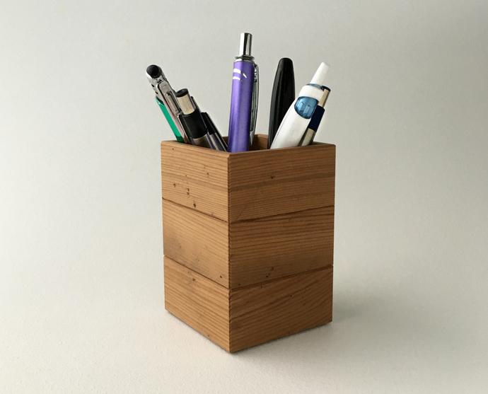 Barn Wood Pen Cup, Rustic Wood Items, Rustic Pencil Cup, Rustic Wood Accents,