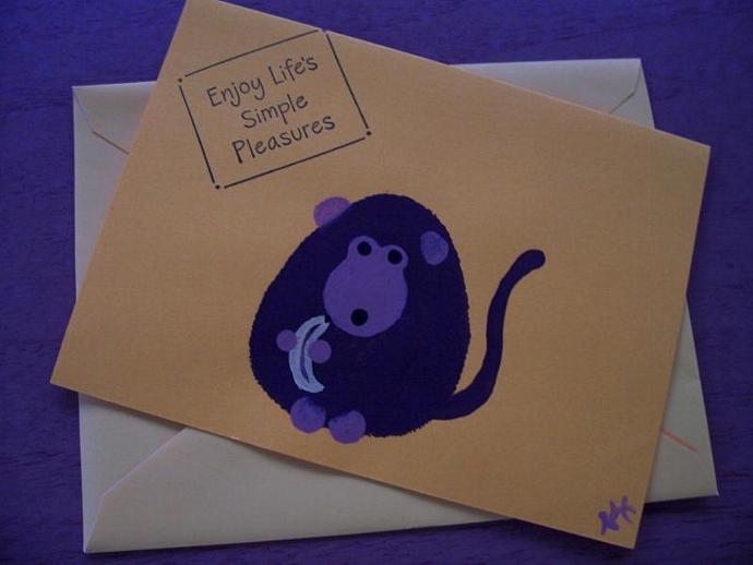Monkey Note Card