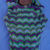 Hand Knitted Multicoloured Baby Papoose And Hat Set - FREE SHIPPING