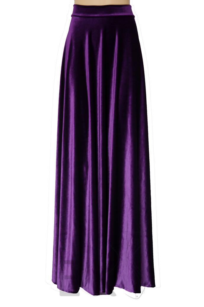Long Velvet Skirt Navy Blue Bridesmaids Skirt A-line Skirt Plus Size Skirt Maxi